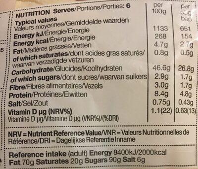 6 super soft white baps - Nutrition facts
