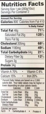 Steak & Stout Pies - Nutrition facts - en