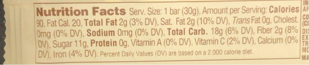 Apple + Coconut Fruit Bar - Nutrition facts - en