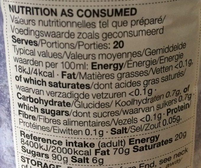 Blackcurrant High Juice - Informations nutritionnelles