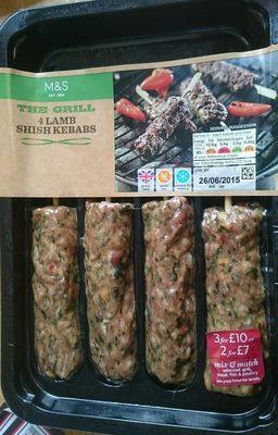 The Grill 4 Lamb Shish Kebabs - Product