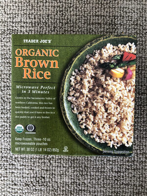 Organic Brown Rice - Nutrition facts