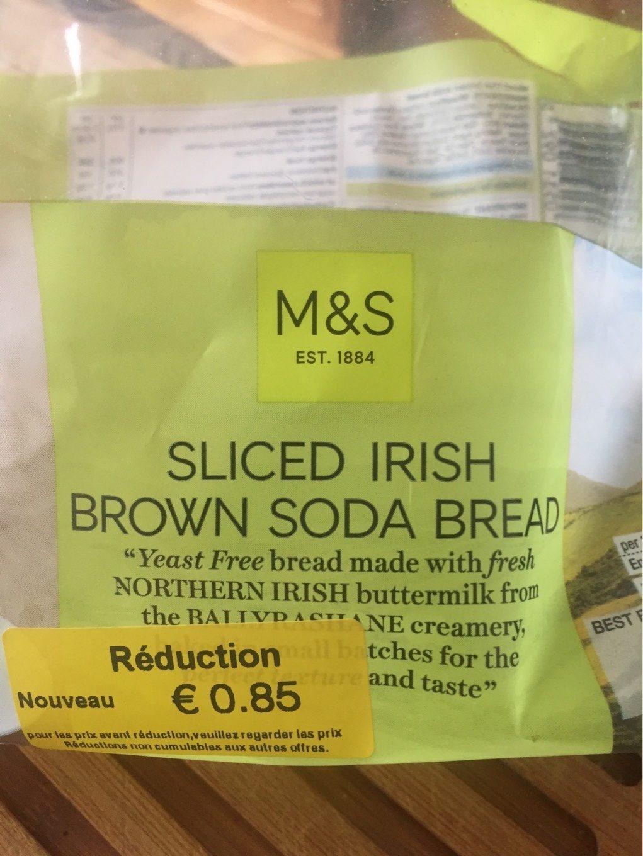 Sliced Irish Brown Soda Bread - Product