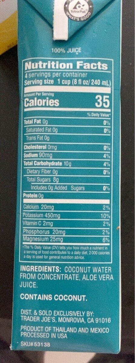 Coconut water with aloe vera juice - Product - en