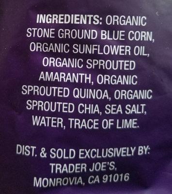 Tortilla chips - Ingredients