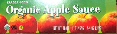 Organic apple sauce - Product