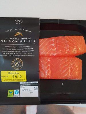 2 filets Saumon fumé - Produit - fr