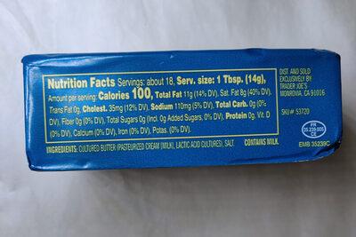 Cultured Salted Butter - Nutrition facts - en