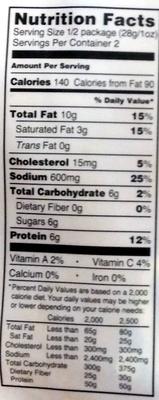 Sweet Sriracha Uncured Bacon Jerky - Nutrition facts