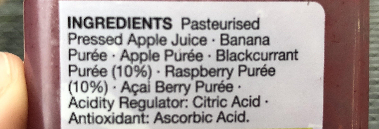 Smoothie Super Berry - Ingrédients - fr