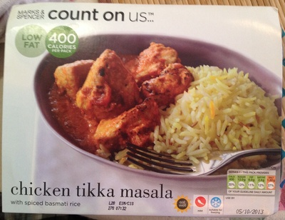 Chicken tikka masala with spiced basmati rice - Produit - fr