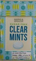 Sugar Free Clear Mints - Produit