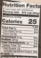 Organic riced cauliflower - Nutrition facts - en