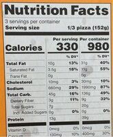 Organic roasted vegetable pizza - Nutrition facts - en