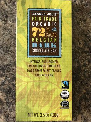 72% cacao Belgian dark chocolate bar - Product - en