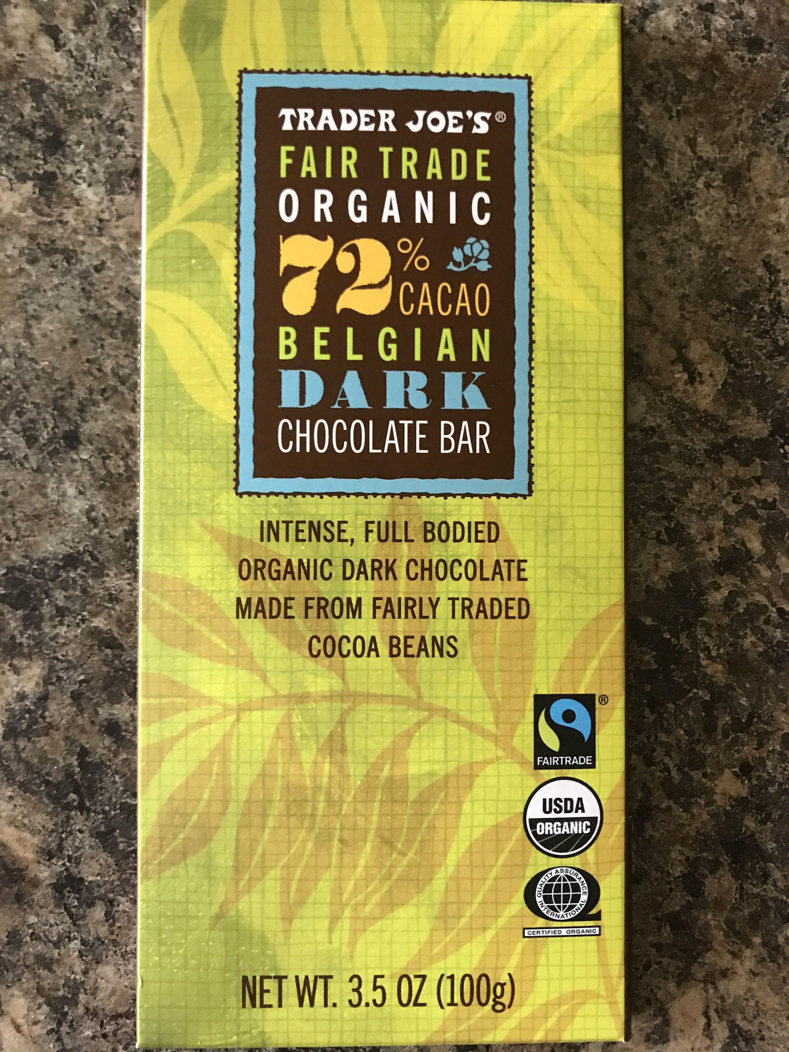 72% cacao Belgian dark chocolate bar - Product