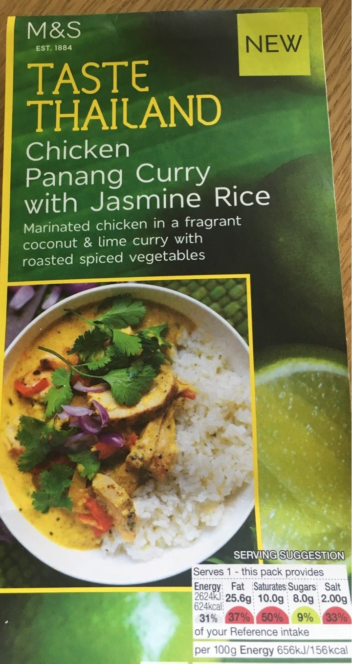 Chicken Panang Curry with Jasmine Rice - Product - fr