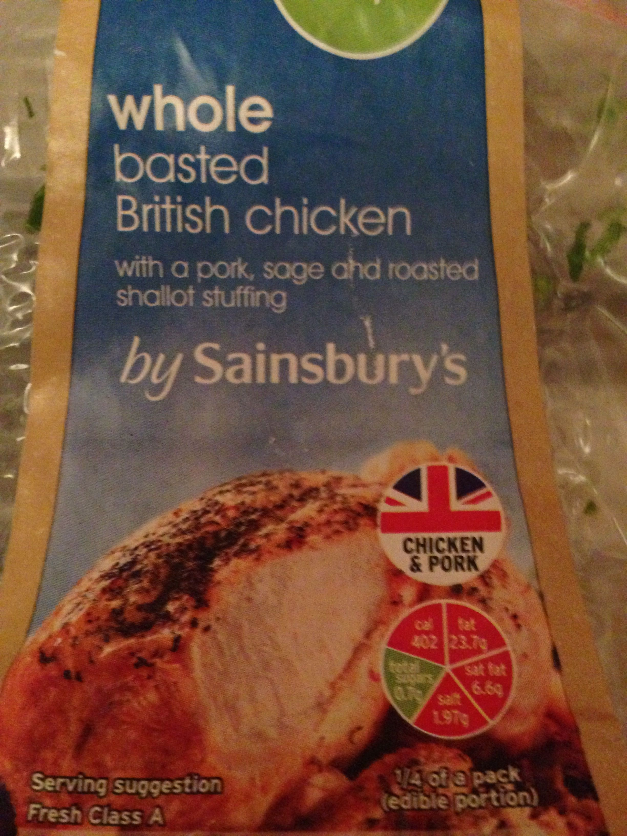Whole basted British chicken - Product