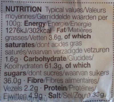 Iced & Spiced Soft Bun - Nutrition facts