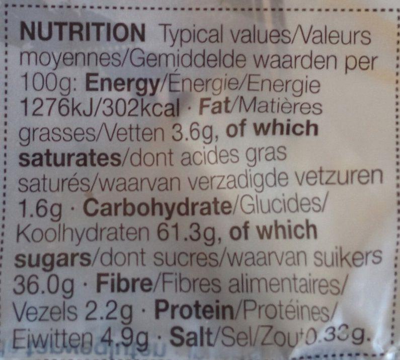 Iced & Spiced Soft Bun - Nutrition facts - fr