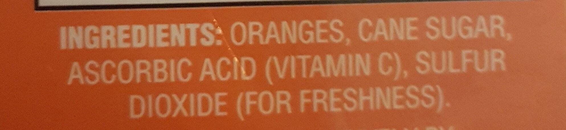 Sweetened Dried Orange Sliced - Ingrédients - en