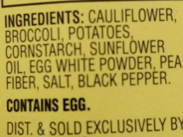 Cauliflower and Broccoli Vegetable Patties - Ingredients - en