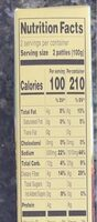 Cauliflower and Broccoli Vegetable Patties - Nutrition facts - en