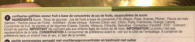 Jelly fruits - Ingredients