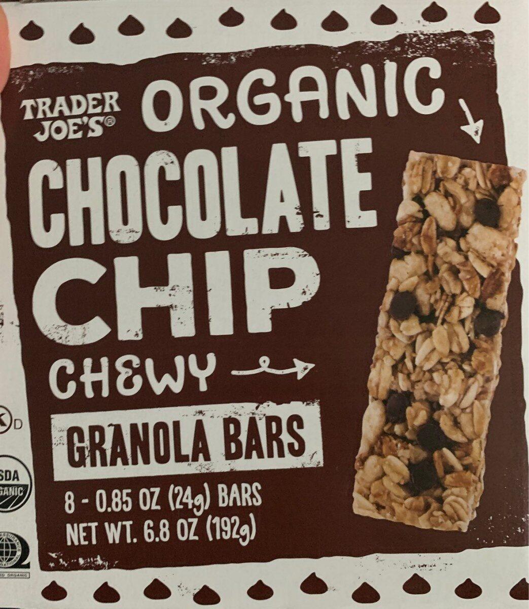 Organic chocolate chip granola bars - Product - en