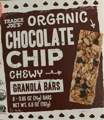 Organic chocolate chip granola bars - Produit