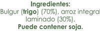 Brillante Facilíssimo Arroz Integral con Bulgur - Ingredients - es
