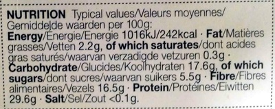 Dried Porcini Mushrooms - Nutrition facts