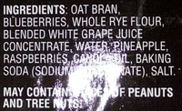 Blueberry Raspberry oat bran muffins - Ingrédients - en