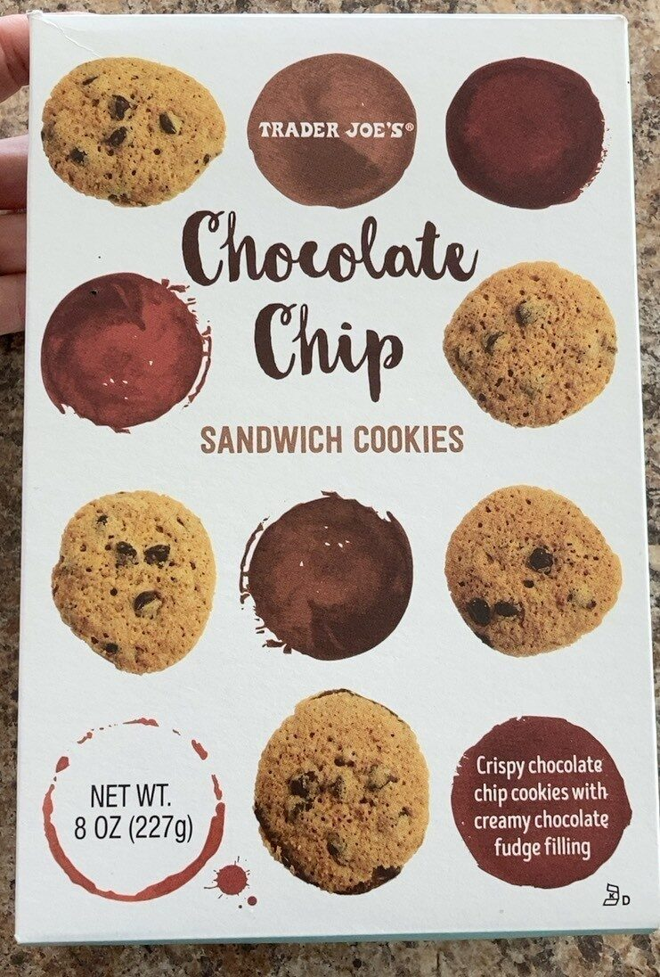 Chocolat chip sandwich cookies - Product - en