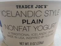 Icelandic style plain non fat yogurt - Product - en