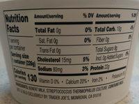 Icelandic style plain non fat yogurt - Nutrition facts - en