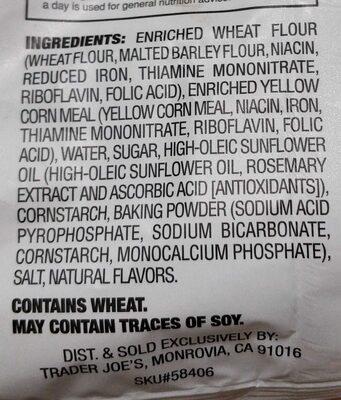Cornbread Crisps - Ingredients - en