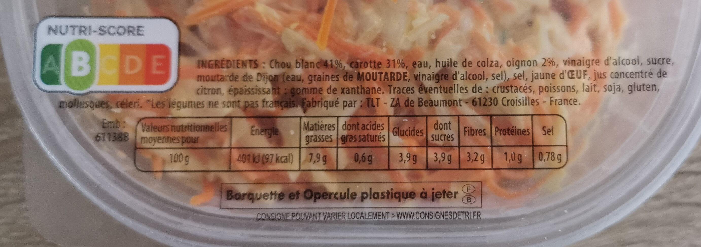 coleslaw choux blanc carottes & oignons - Product