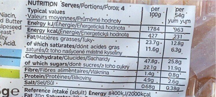 Yum yum - Voedingswaarden - en