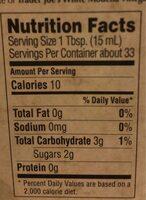 Trader giotto's, white modena vinegar - Nutrition facts - en
