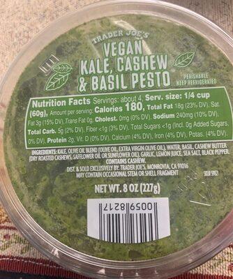Vegan kale, cashew & basil pesto - Product - en