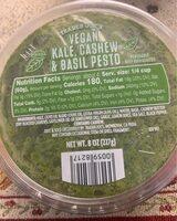 Vegan kale, cashew & basil pesto - Nutrition facts - en