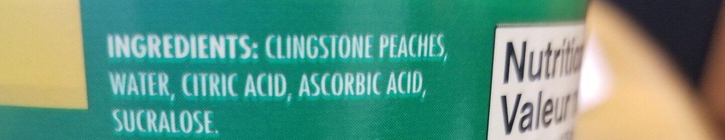 Peach slices - Ingredients - en