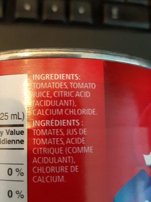 Tomates en dés - Sans sel ajouté - Ingrediënten - fr