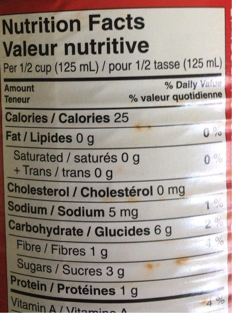 Tomates en dés - Sans sel ajouté - Voedingswaarden - fr