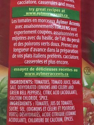 Tomates (italiennes) - Ingrédients