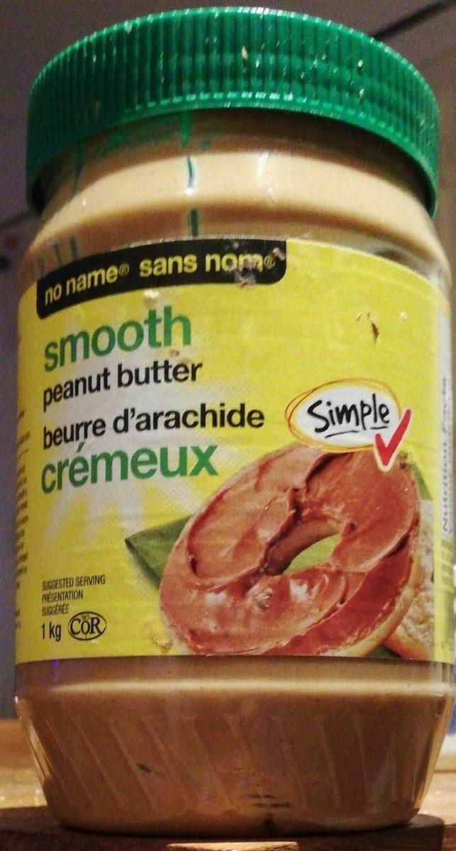 No Name Smooth Peanut Butter - Produit