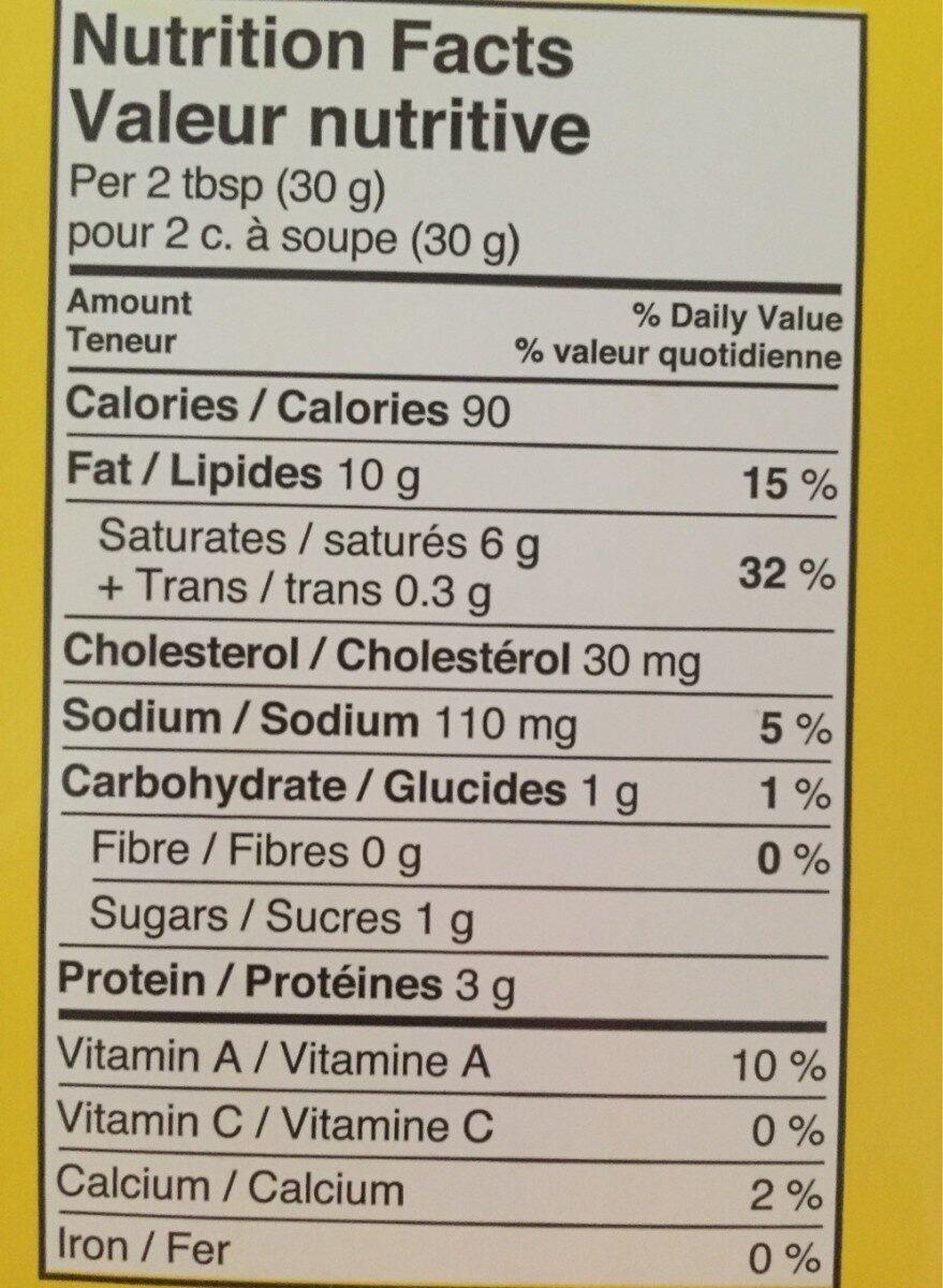 fromage à la crème - Informations nutritionnelles - en