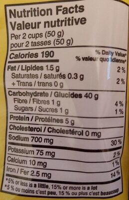 Pretzel - Informations nutritionnelles - fr