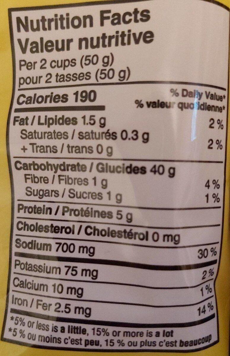 Pretzel - Nutrition facts - fr